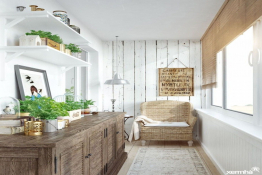Ban công kín - Phong cách thiết kế căn hộ mới của 2020
