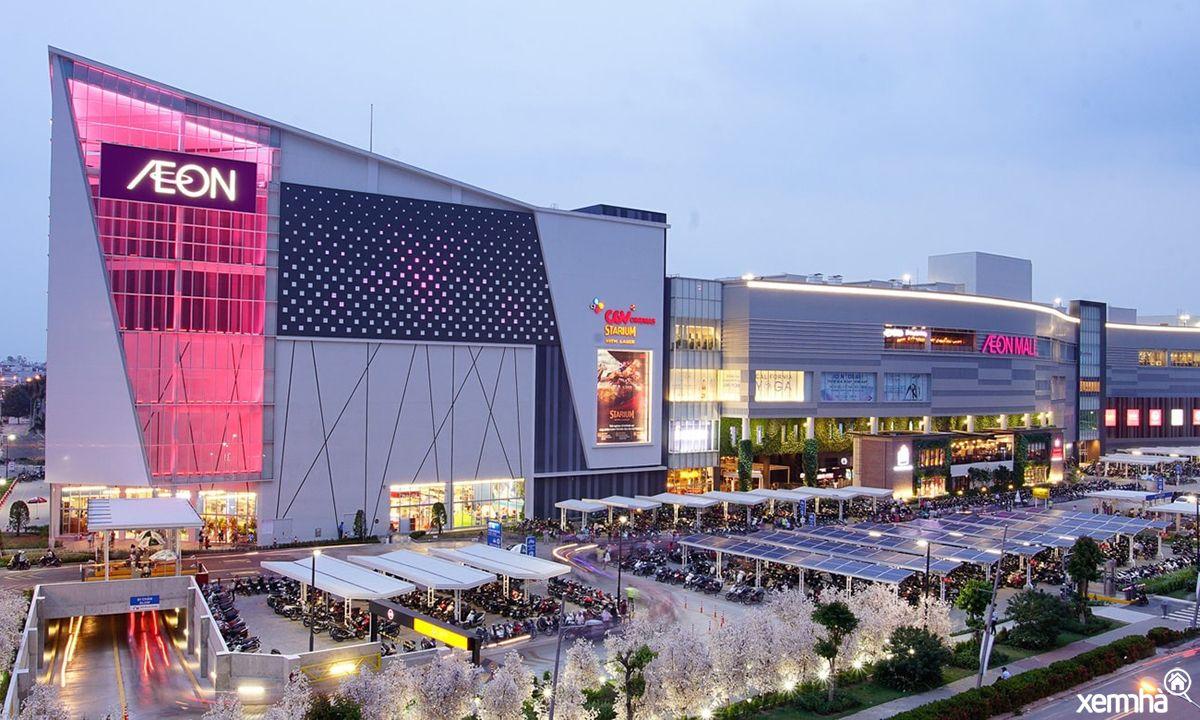 Toàn cảnh Aeon Mall về đêm
