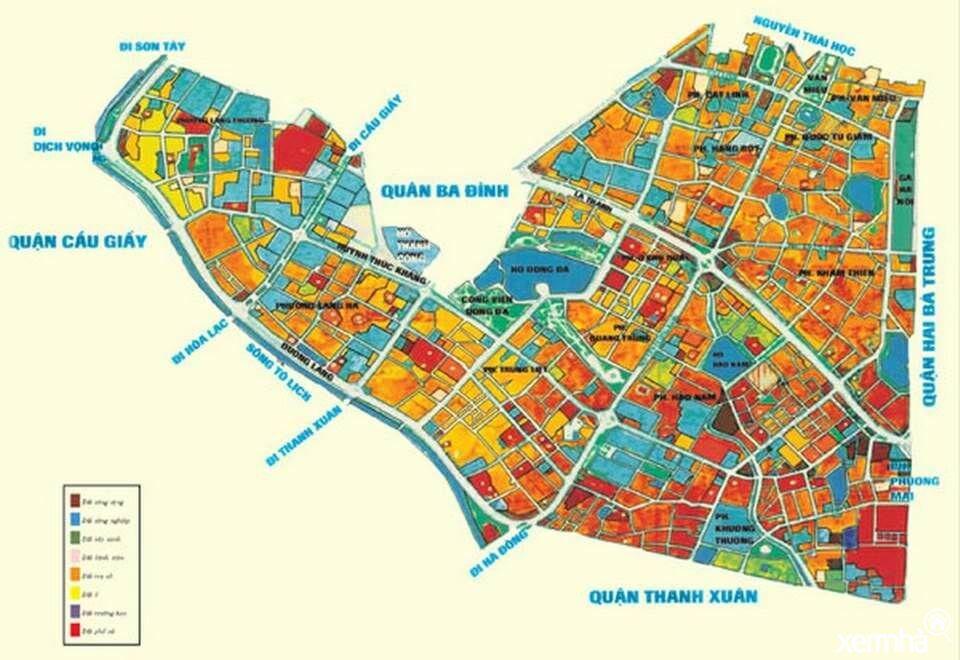 Bản đồ quy hoạch quận Đống Đa