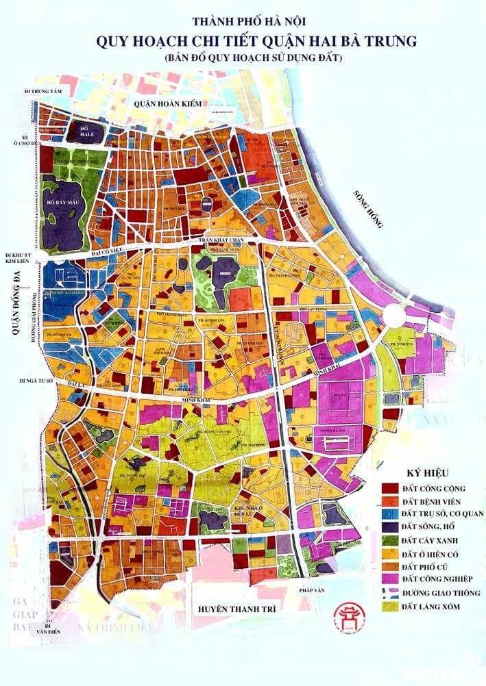 Bản đồ quy hoạch quận Hai Bà Trưng