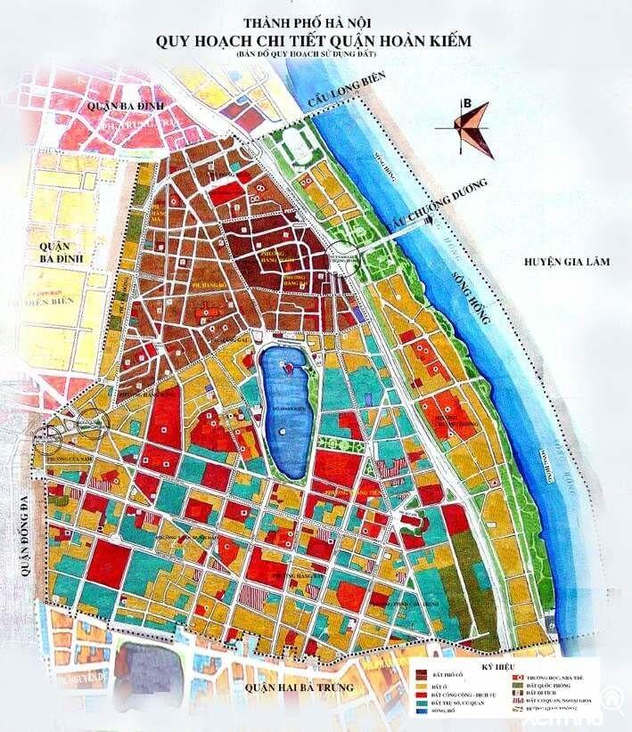 Bản đồ quy hoạch quận Hoàn Kiếm
