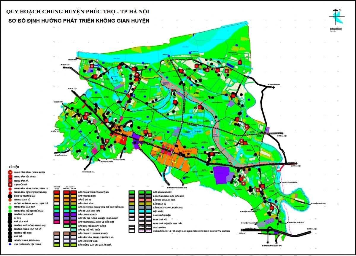 Bản đồ quy hoạch huyện Phúc Thọ