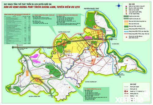 Bản đồ quy hoạch huyện Quốc Oai