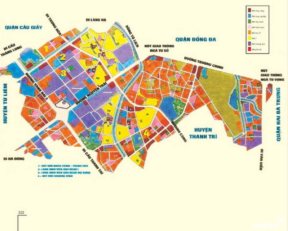 Bản đồ quy hoạch quận Thanh Xuân