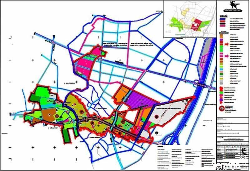 Bản đồ quy hoạch huyện Đan Phượng