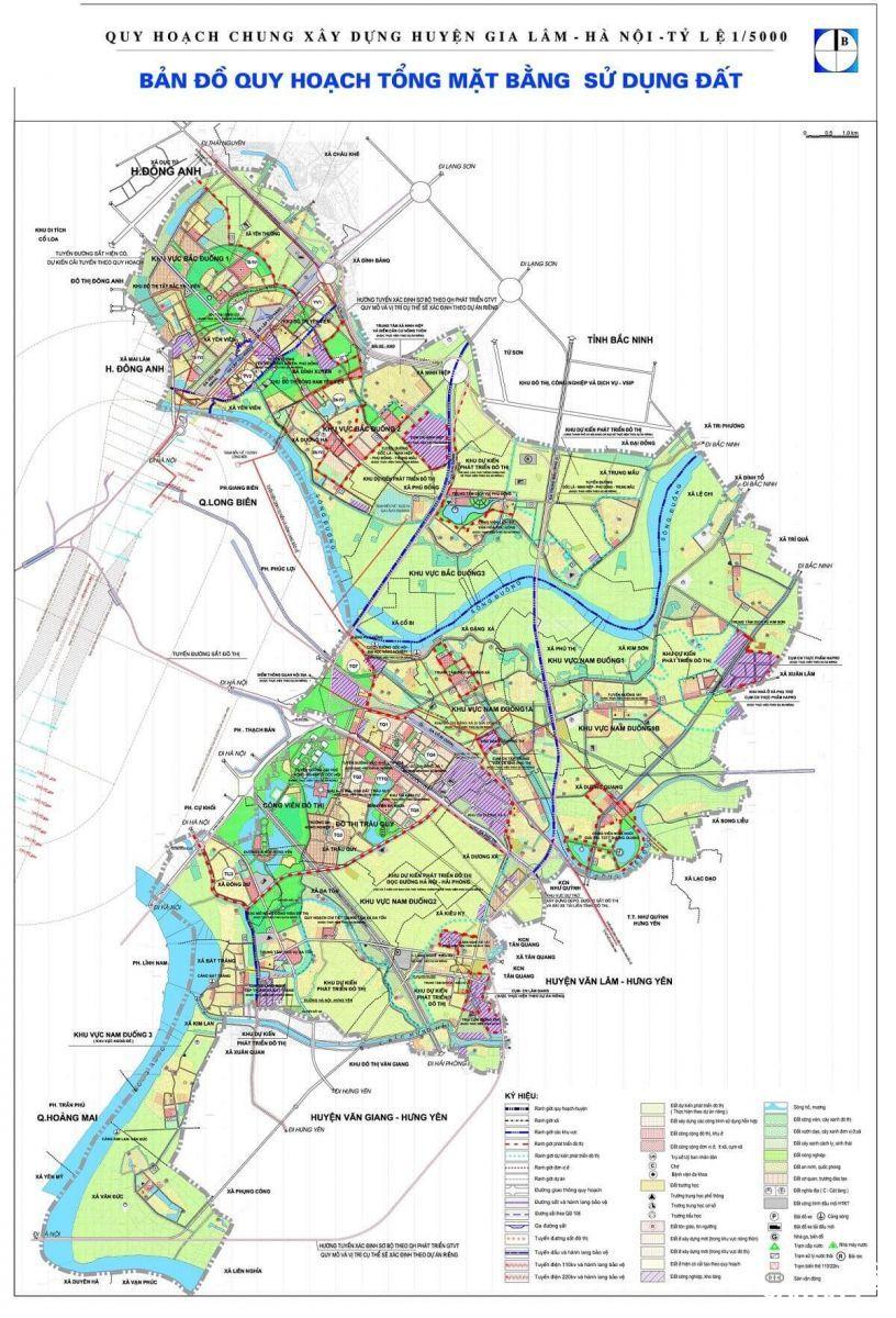 Bản đồ quy hoạch huyện Gia Lâm