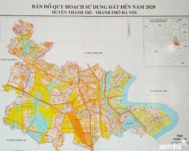 Bản đồ quy hoạch huyện Thanh Trì