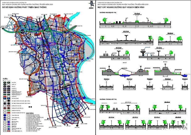 Bản đồ quy hoạch huyện Thường Tín