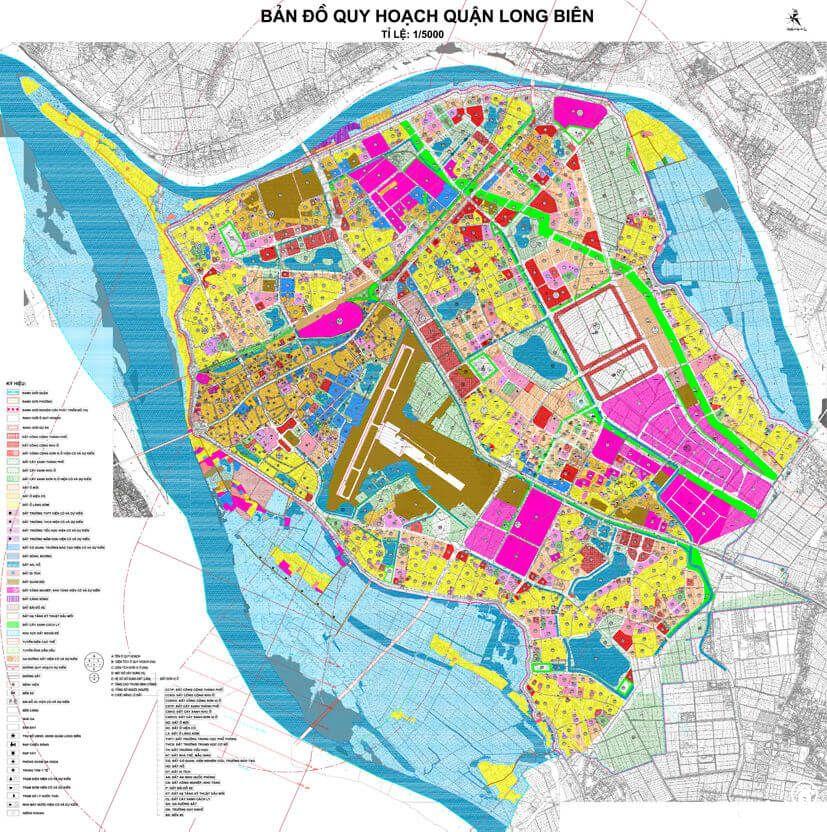 Bản đồ quy hoạch quận Long Biên