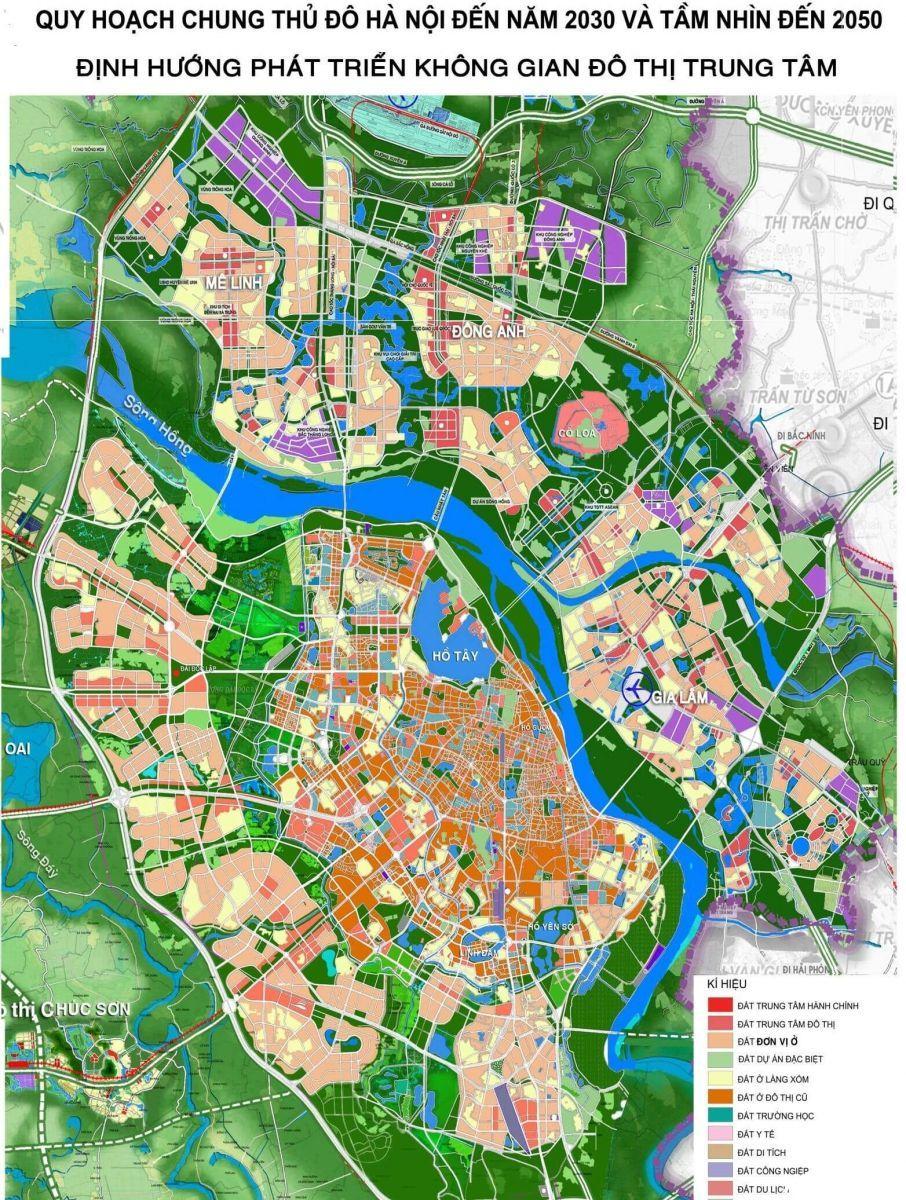 Bản đồ quy hoạch thành phố Hà Nội 2030 - 2950