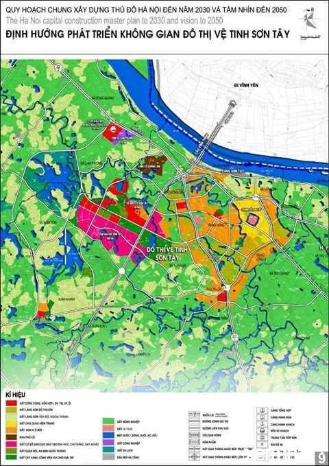 Bản đồ quy hoạch thị xã Sơn Tây