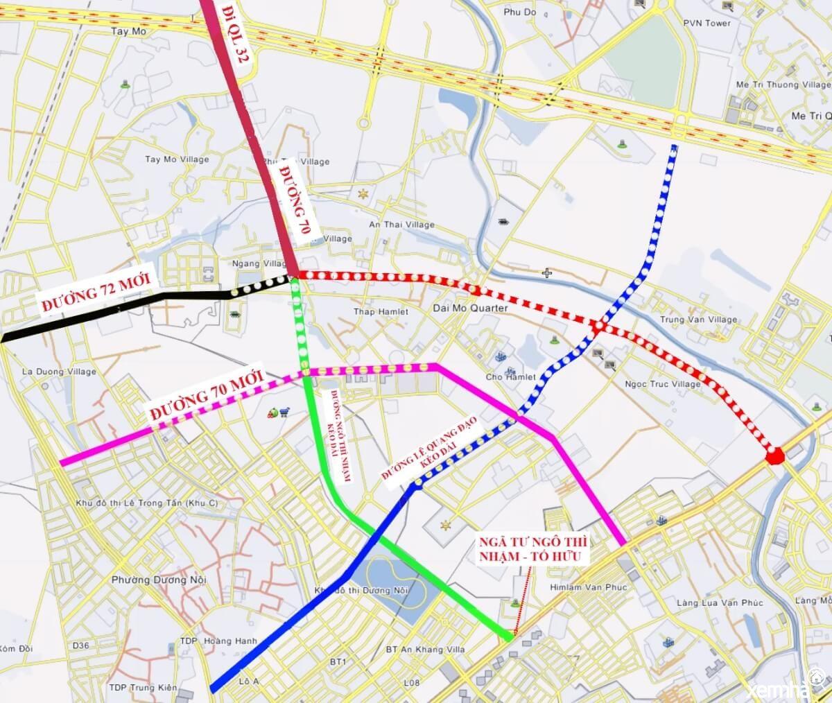 Bản đồ quy hoạch đường 70