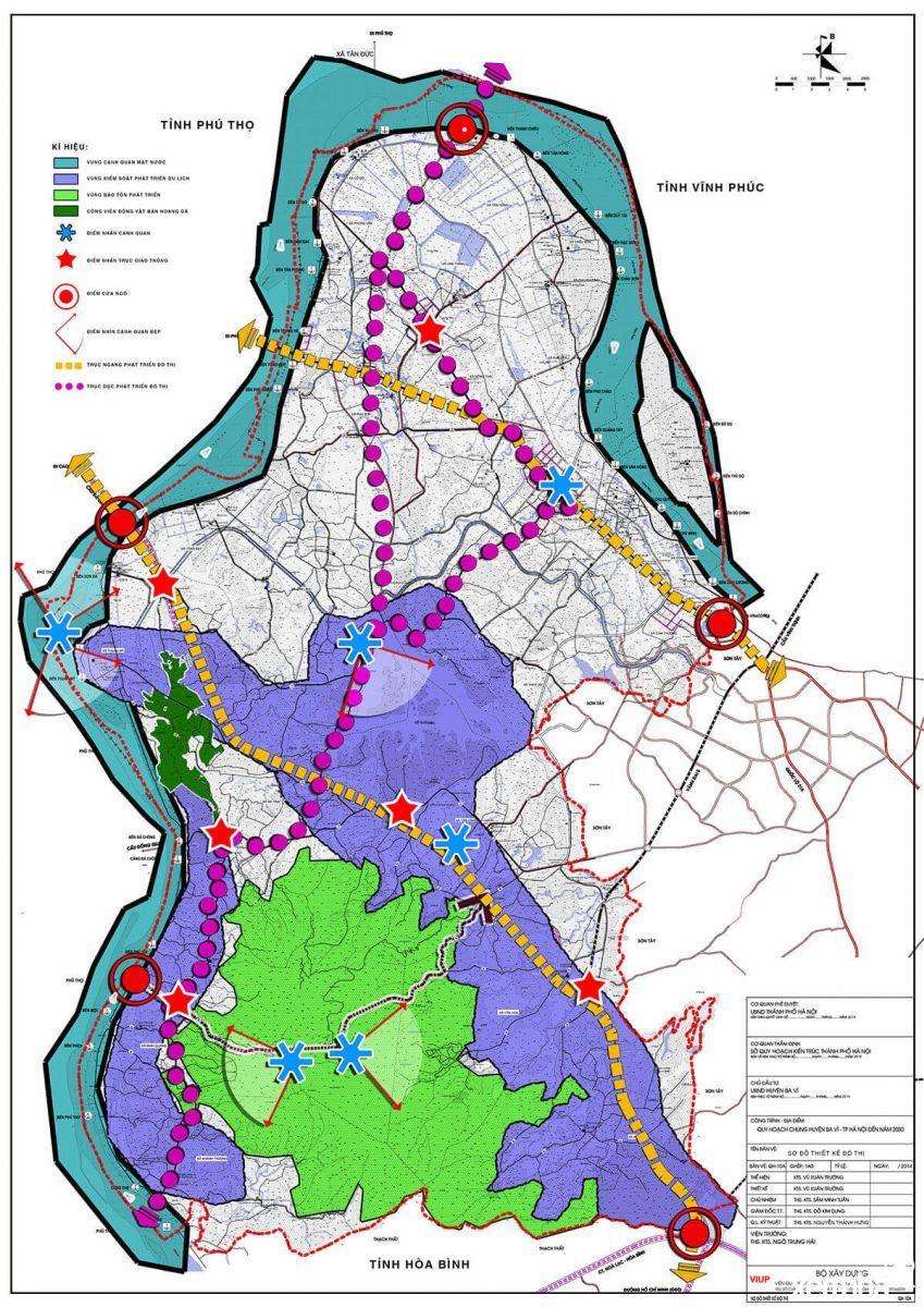 Bản đồ quy hoạch huyện Ba Vì