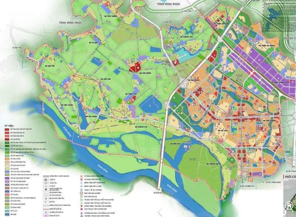 Bản đô quy hoạch huyện Mê Linh