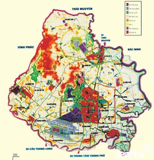 Bản đồ quy hoạch huyện Sóc Sơn