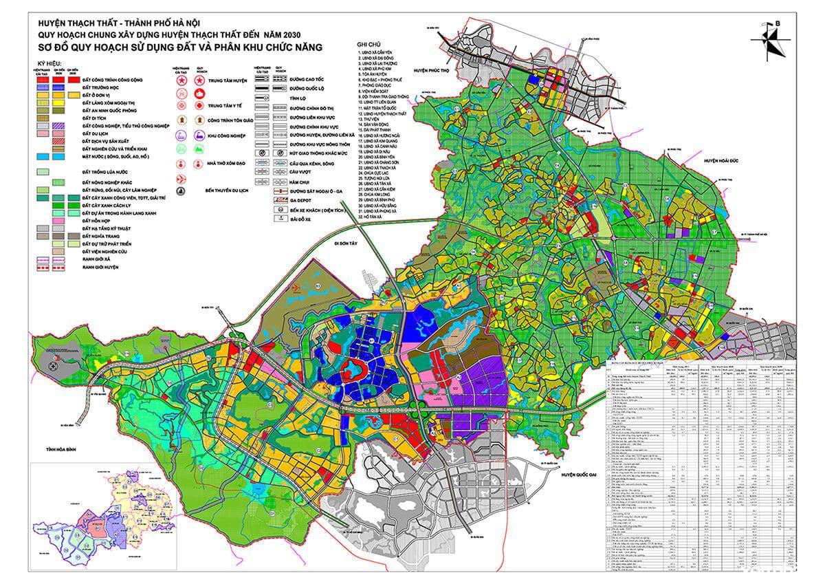 Bản đồ quy hoạch huyện Thạch Thất