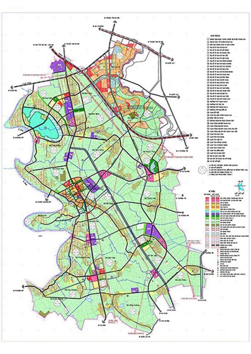 Bản đồ quy hoạch huyện Thanh Oai