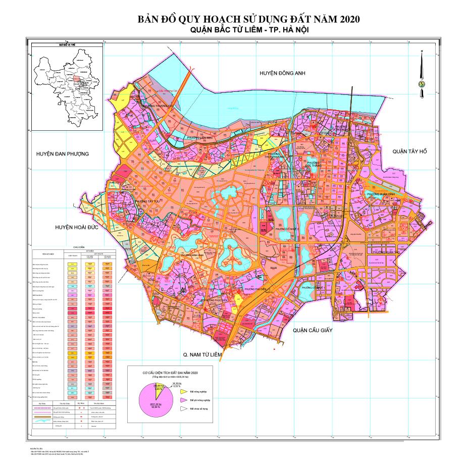 Bản đồ quy hoạch quận Bắc Từ Liêm