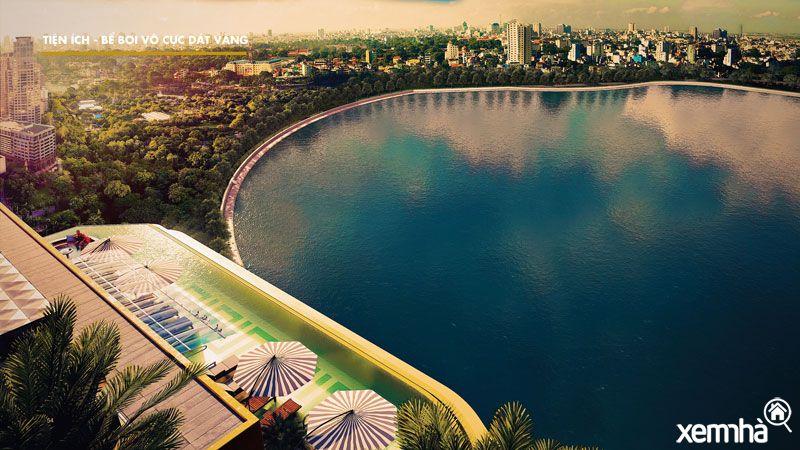 Bể Bơi dát vàng Golden Lake