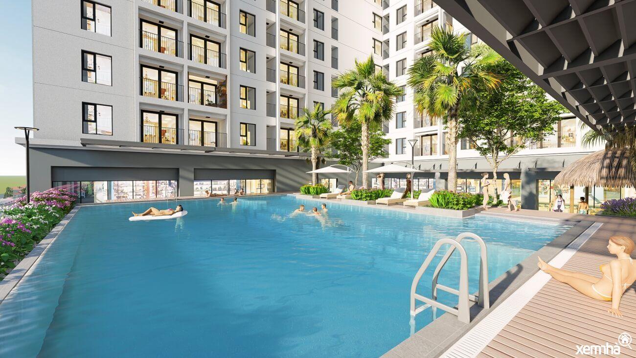 Bể bơi chung cư Geleximco Southern Star
