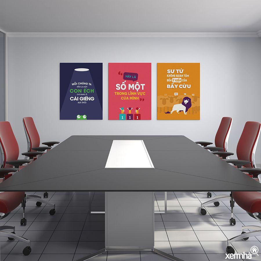 Cách treo tranh văn phòng công ty
