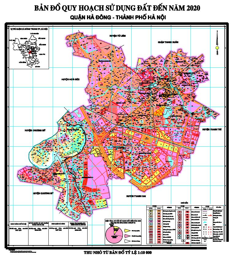 Bản đồ quy hoạch quận Hà Đông