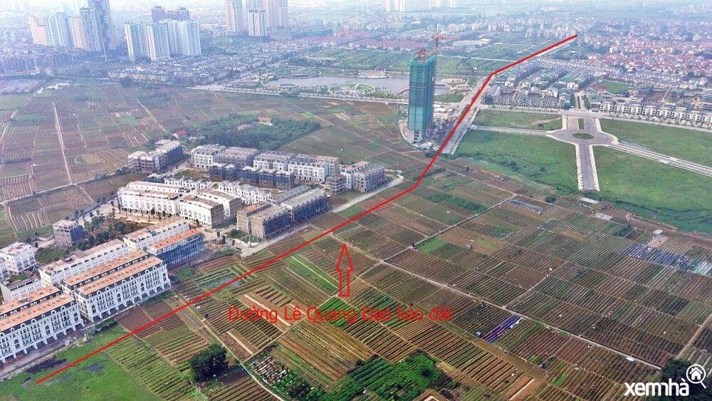Đoạn cắt qua khu đô thị mới Dương Nội