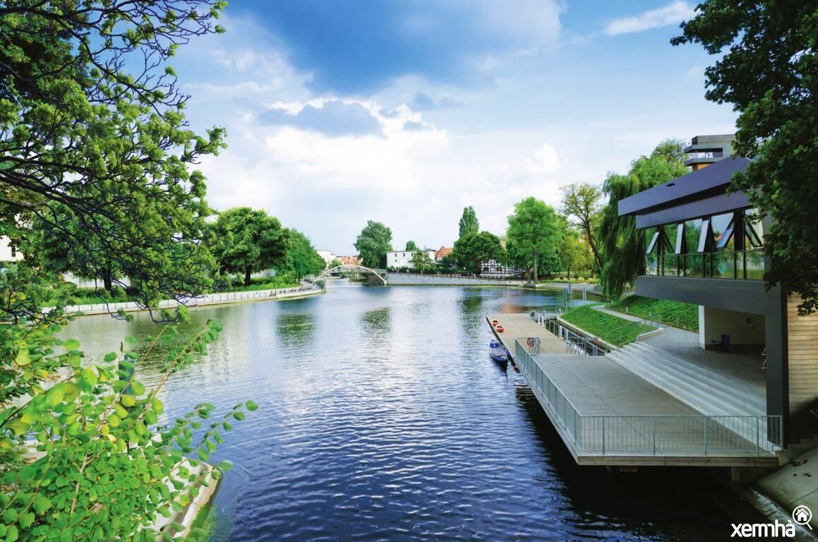 Hồ cảnh quan dự án Hana Garden City