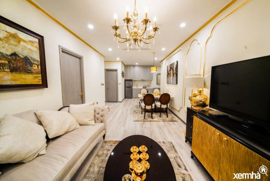 Không gian phòng khách Hanoi Golden Lake