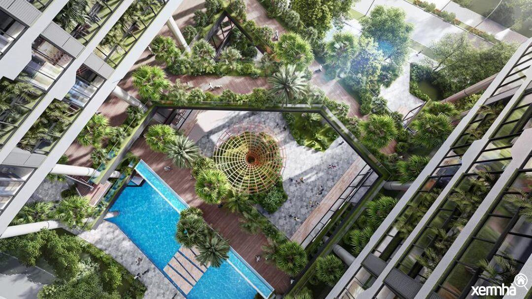 Không gian xanh dự án Sunshine Long Biên