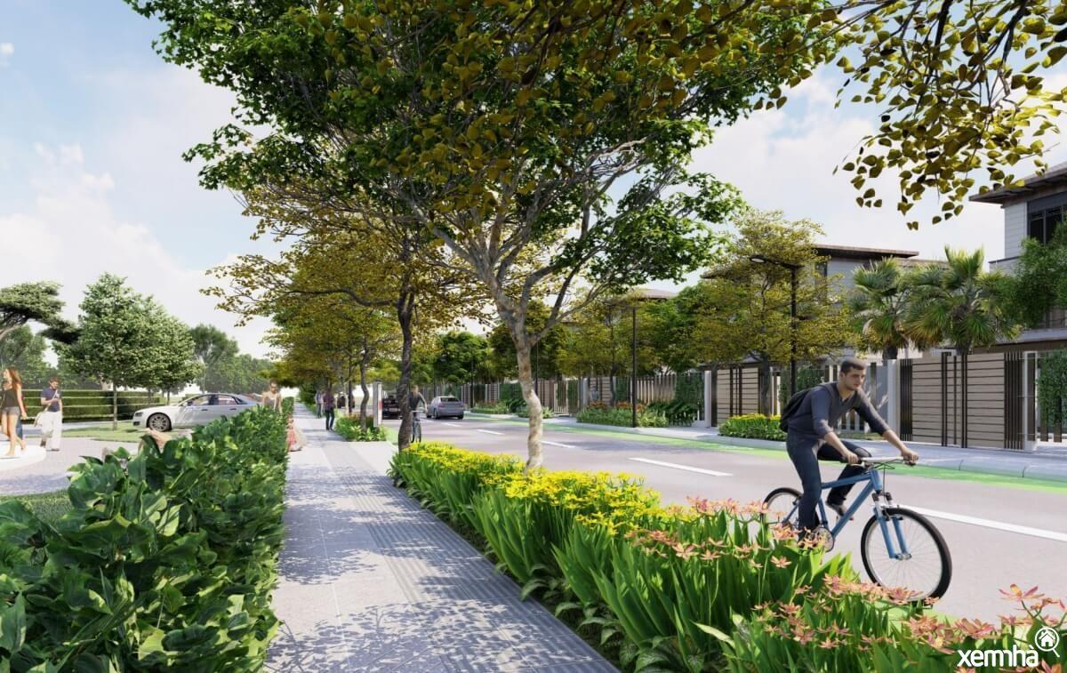 Khuôn viên dự án HUD Mê Linh