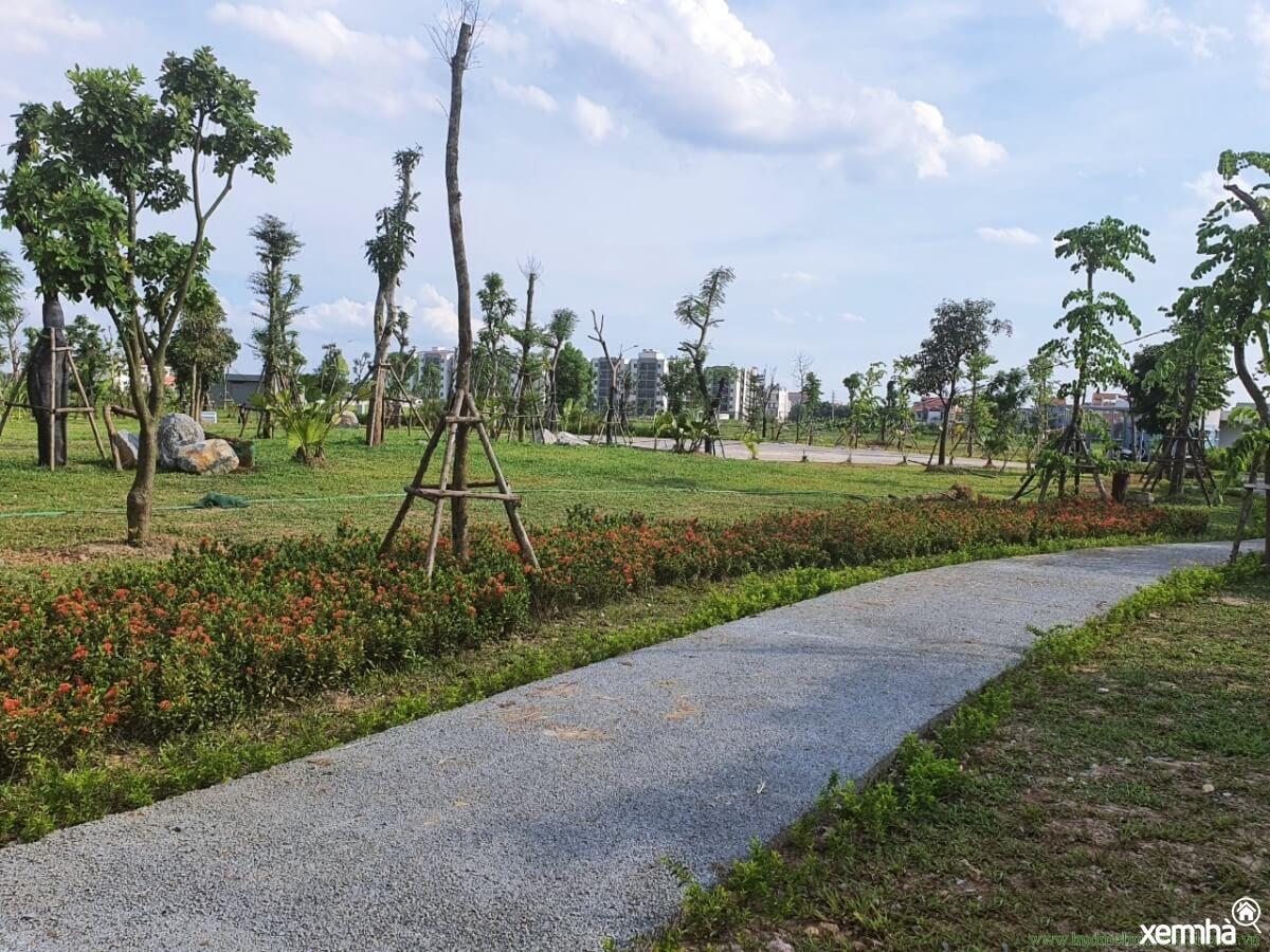 Khuôn viên xanh dự án HUD Mê Linh