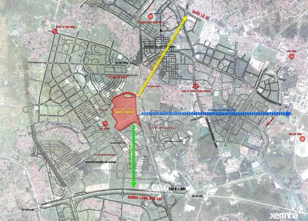 Maps khu đô thị Vườn Cam
