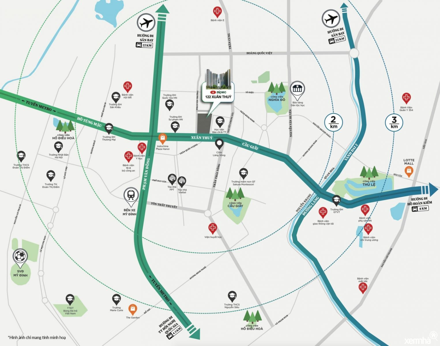 Maps Mipec Xuân Thuỷ