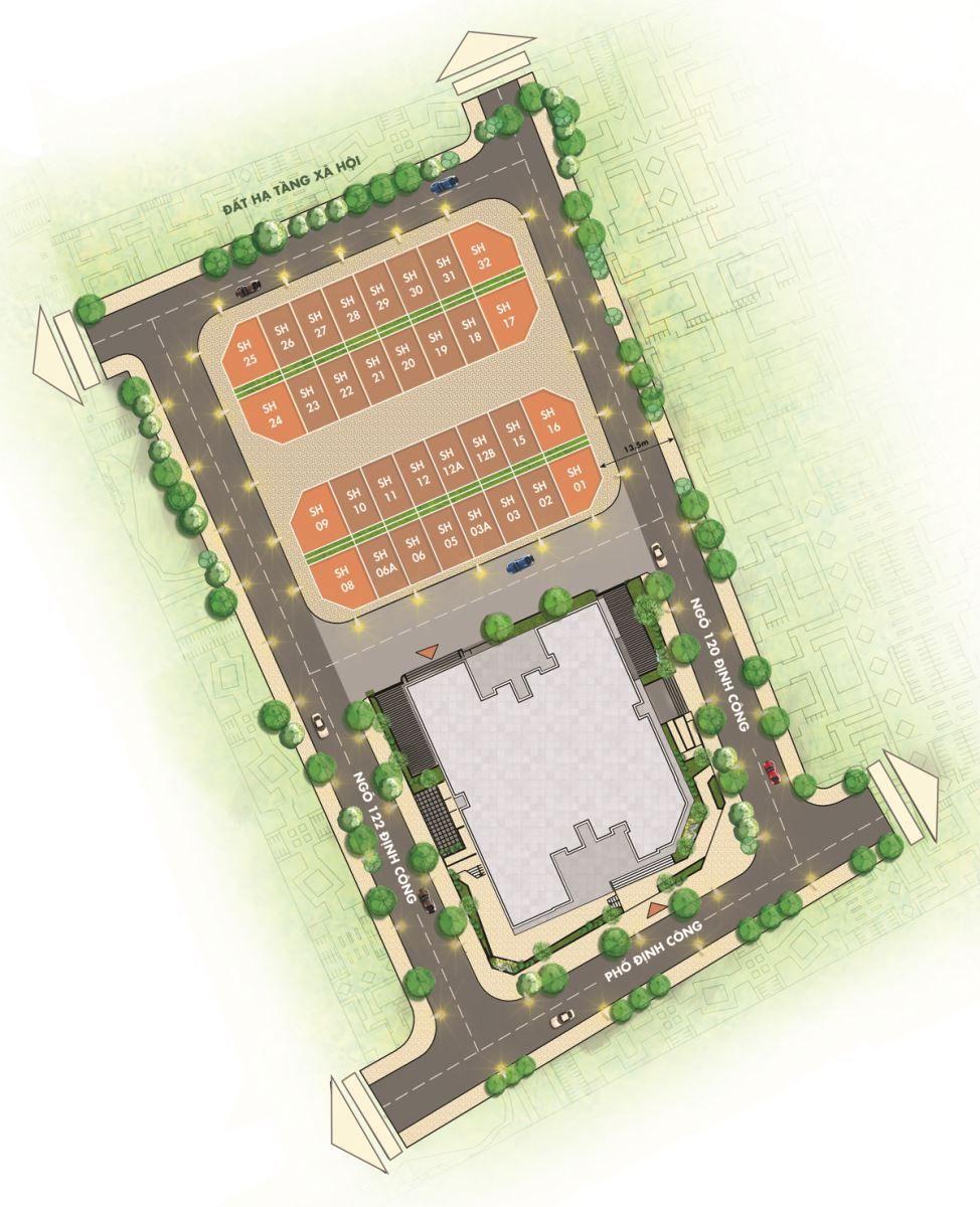 Mặt bằng tổng thể chung cư T&T DC Complex