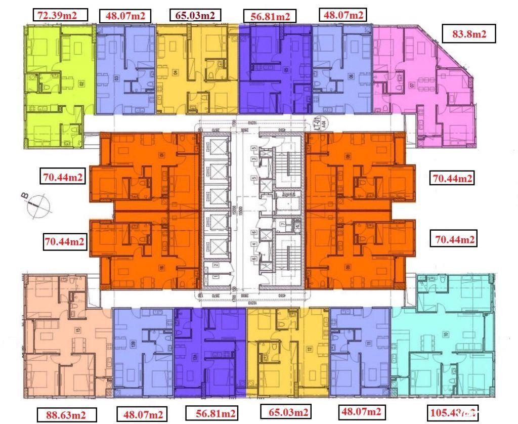 Mặt bằng chung cư T&T DC Complex