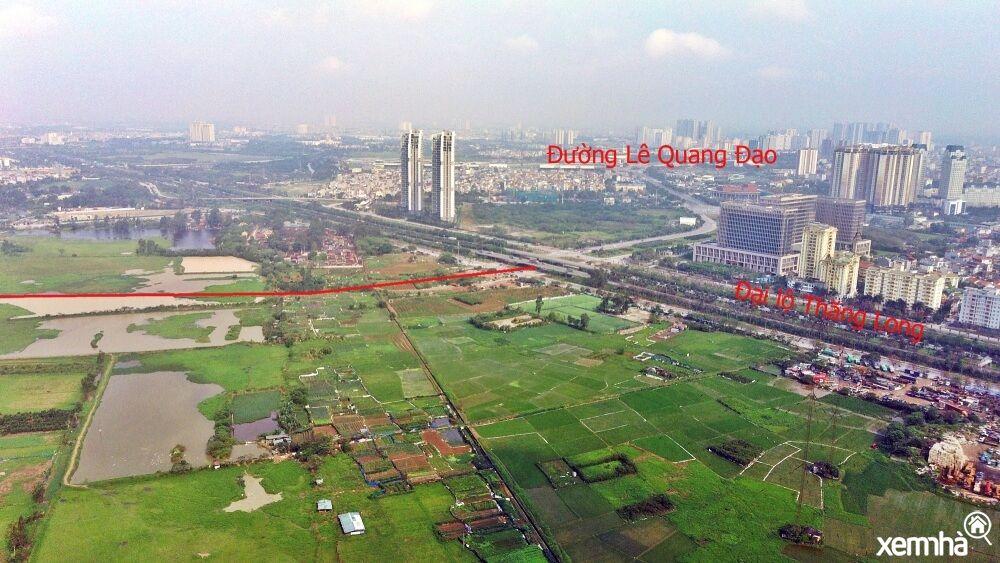 Nút giao Đại lộ Thăng Long - Lê Quang Đạo