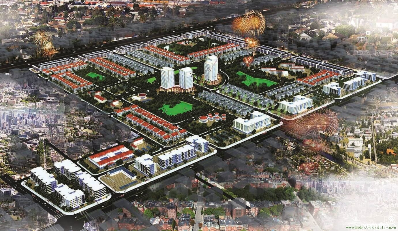 Phối cảnh khu đô thị HUD Mê Linh