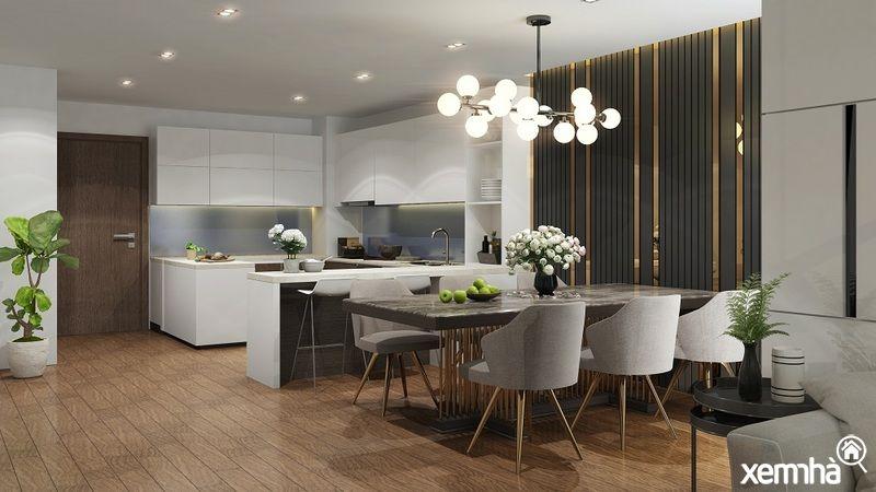 Phòng bếp Amber Riverside