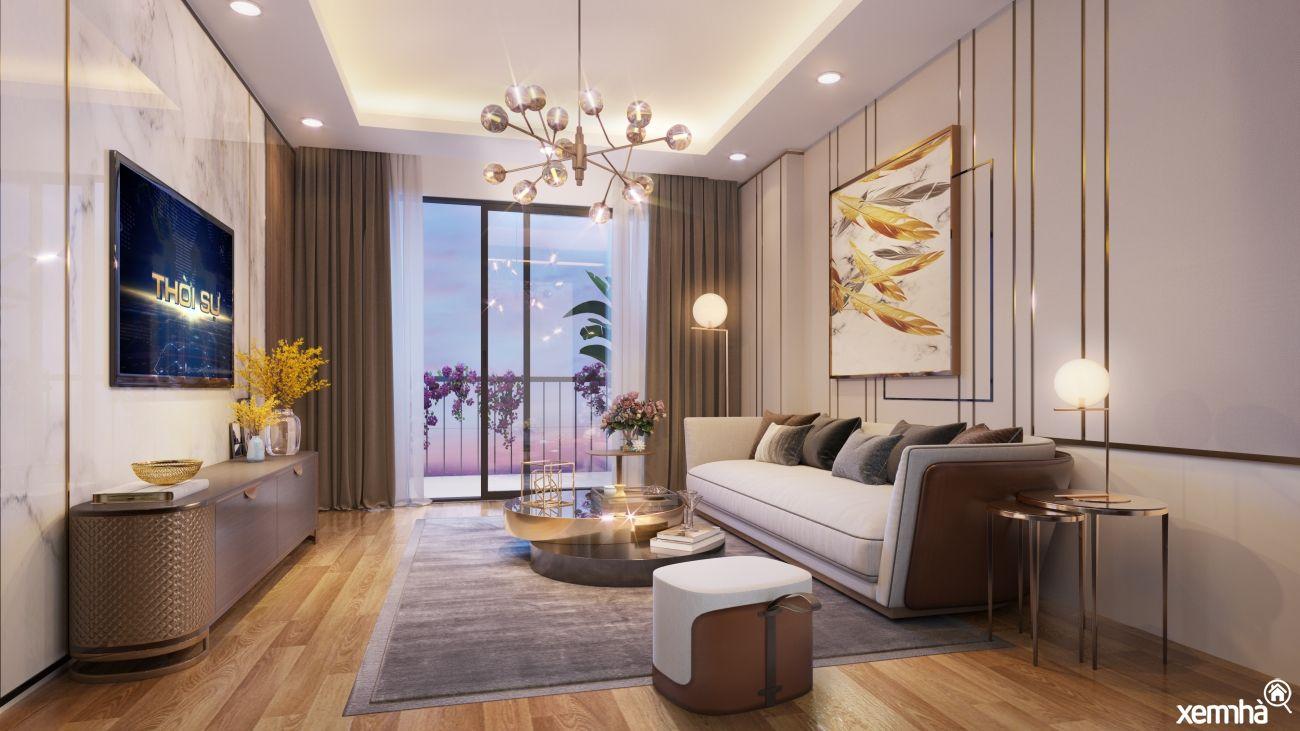 Phòng khách chung cư 34 Phạm Văn Đồng
