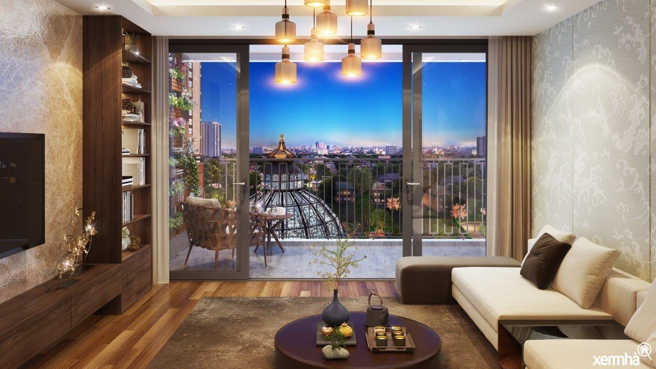 Phòng khách Hinode City Minh Khai