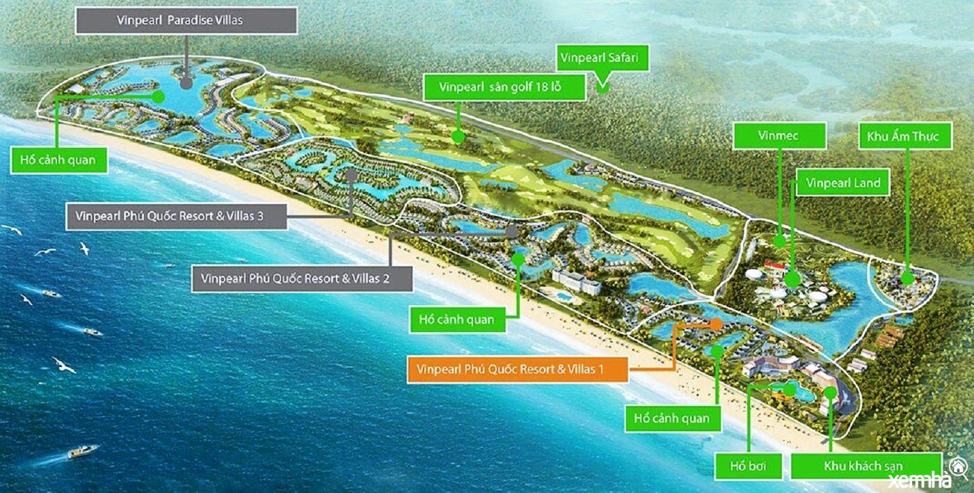 Quy hoạch khu nghỉ dưỡng Vinpearl Phú Quốc