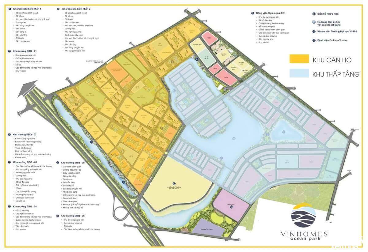 Quy hoạch tổng thể Vinhomes Ocean Park