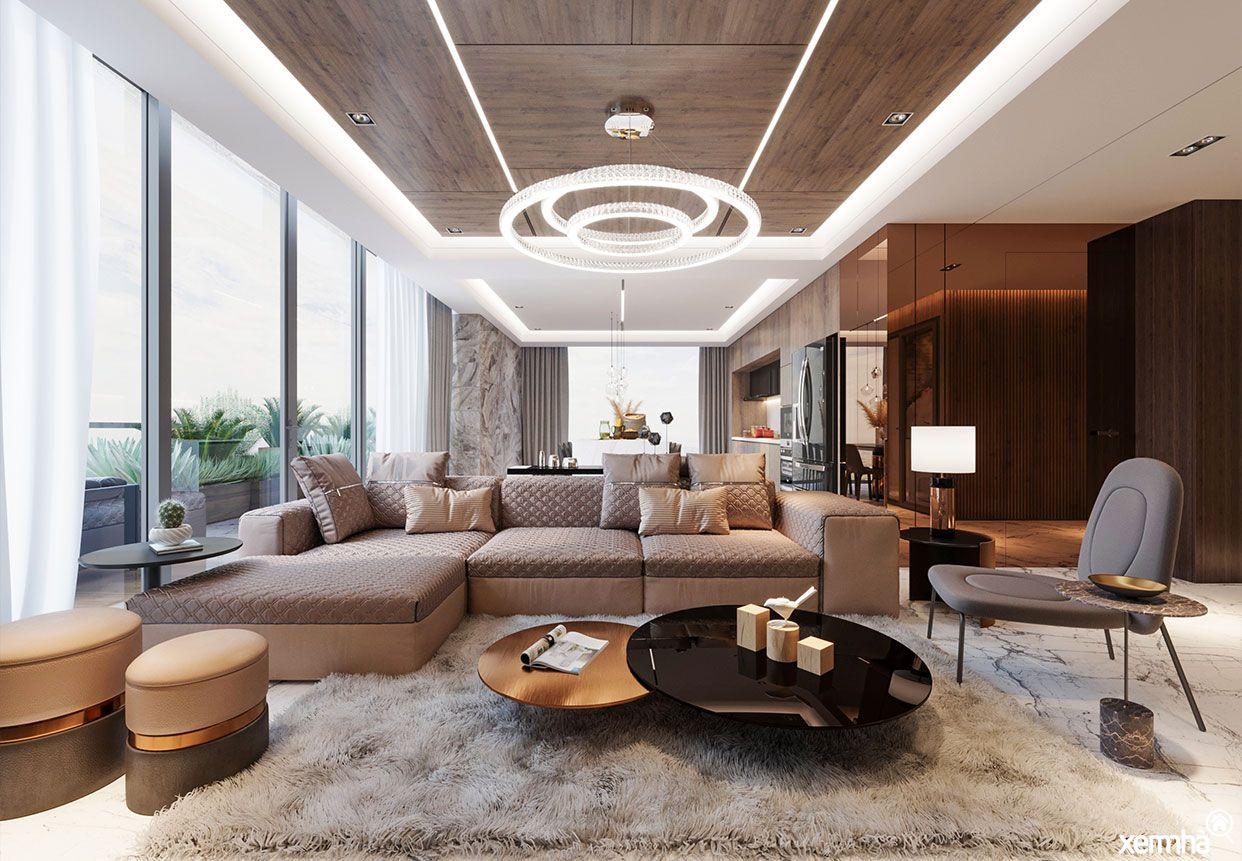 Phòng khách chung cư Sunshine Golden River
