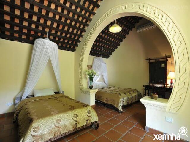 Thiết kế phòng ngủ ấn tượng của Tản Đà Resort