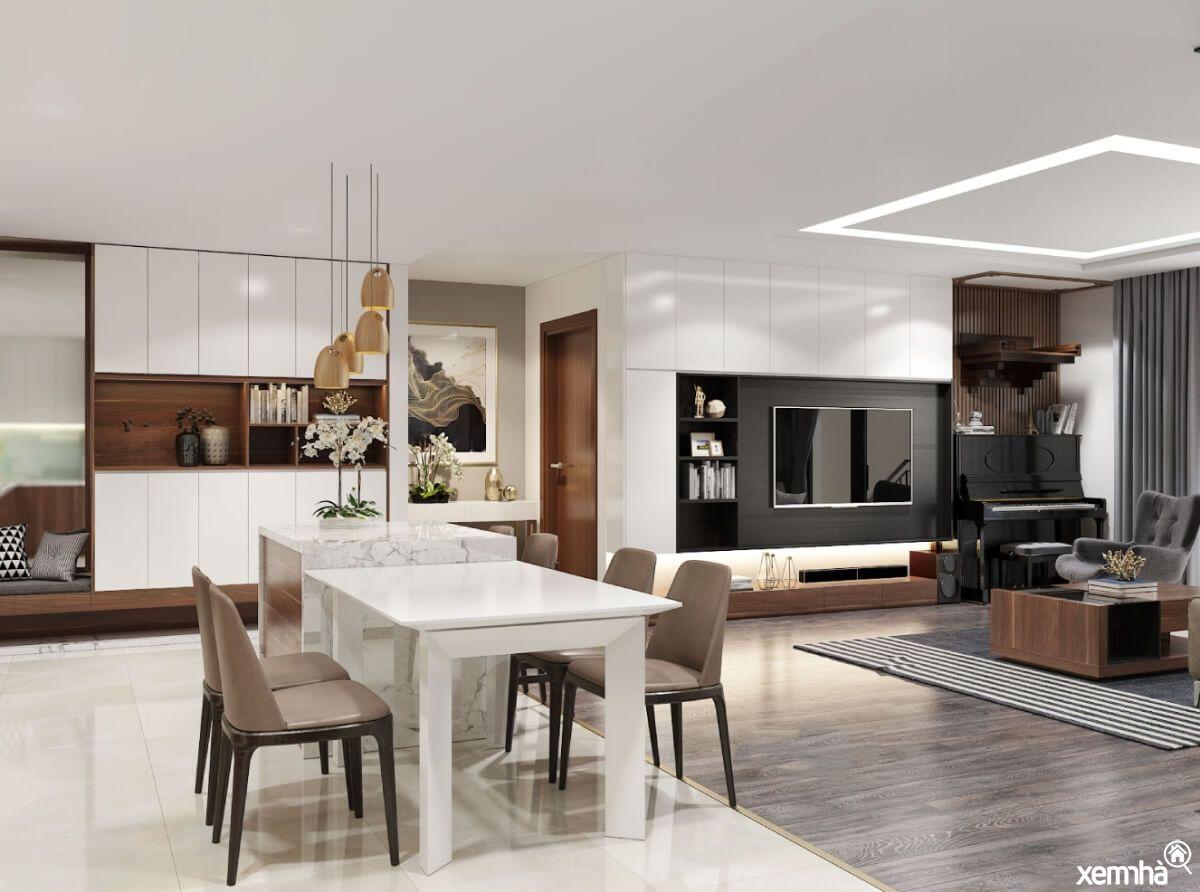Thiết kế phòng khách căn hộ chung cư
