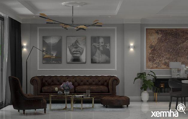 Không gian thiết kế phòng khách của căn hộ