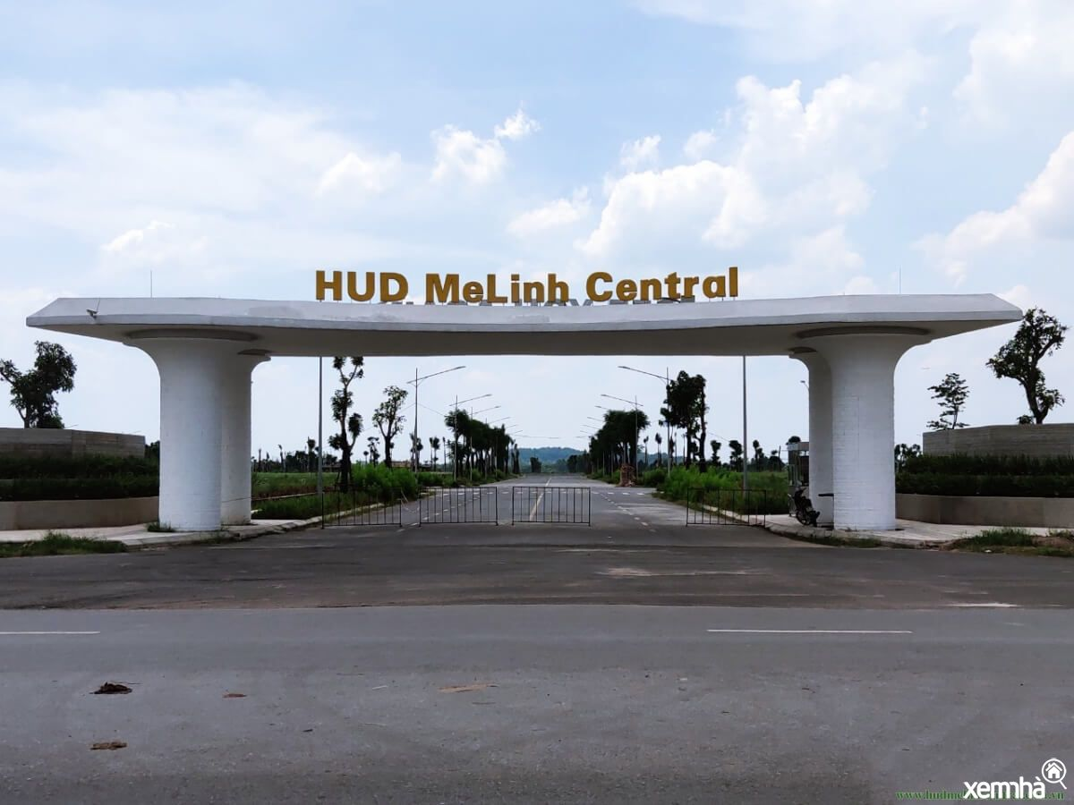 Cổng dự án HUD Mê Linh