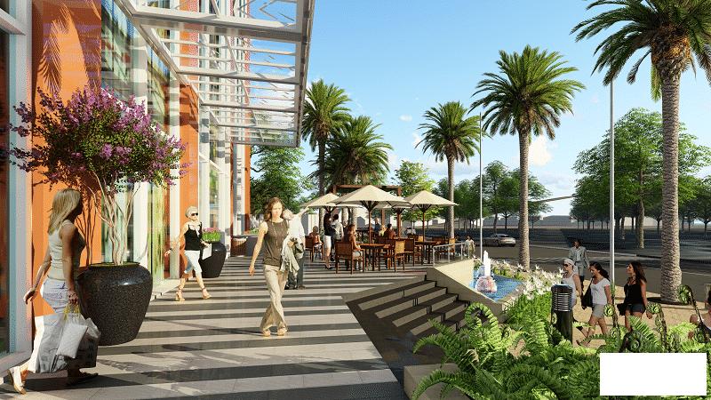 Cafe ngoài trời dự án Kiến Hưng Luxury