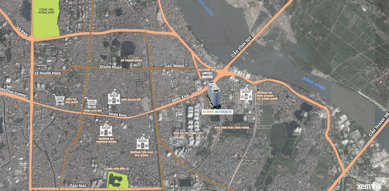 Vị trí hạ tầng Amber Riverside